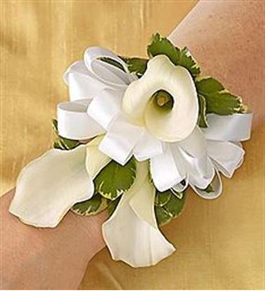 Picture of All White Corsage